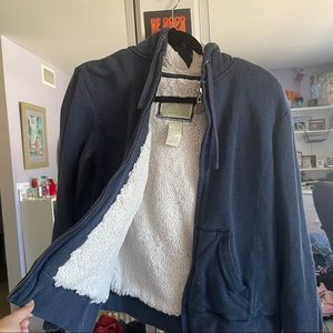 Beautiful zip up jacket with soft fur inside